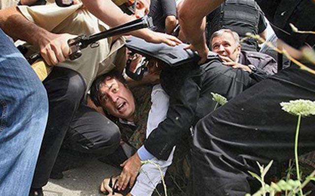 """""""მამაცი"""" მიხეილი გორში. 2008 წლის აგვისტო"""