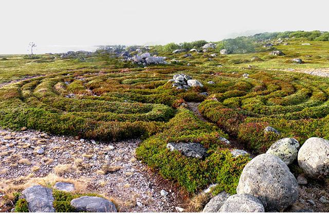 კუნძულ დიდი ზაიაცკის ქვის ლაბირინთები, რუსეთი