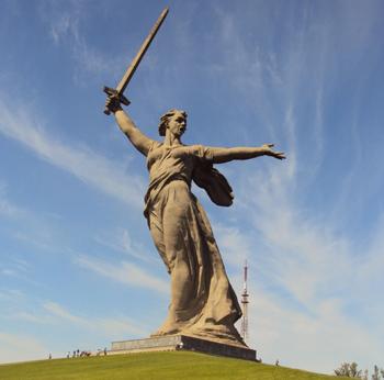 """""""დედა-სამშობლო გეძახის!"""", ვოლგოგრადი, რუსეთი"""