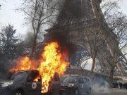 არეულობები, ცრემლმდენი აირი და ტრავმები: ყვითელი ჟილეტები მეცამეტედ გამოვიდნენ პარიზის ქუჩებში