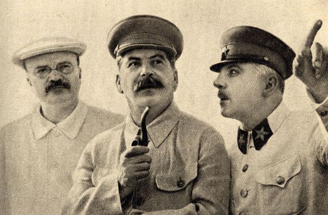 მოლოტოვი, სტალინი და ვოროშილოვი.1937 წელი