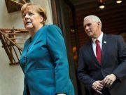 """გერმანიის კანცლერმა ანგელა მერკელმა თებერვალში უარი განუცხადა აშშ-ის ვიცეპრეზიდენტ მაიკ პენსს ქერჩის სრუტეში გერმანიის სამხედრო გემების გაგზავნაზე, _ იუწყება საინფორმაციო სააგენტო """"ბლუმბერგი"""". """"ბლუმბერგის"""" ინფორმაციით, 16 თებერვალს მიუნხენის უსაფრთხოების კონფერენციაზე მაიკ პენსმა ანგელა მერკელს შესთავაზა სამხედრო გემები გაეგზავნა ქერჩის სრუტეს გავლით. როგორც """"ბლუმბერგი"""" აღნიშნავს, გერმანიის კანცლერმა უარი თქვა მაიკ პენსის ამ შეთავაზებაზე. აღნიშნული ინიციატივა, აგრეთვე, არ გაიზიარა საფრანგეთის ხელმძღვანელობამ. ანგელა მერკელი შეშფოთებული იყო მაიკ პენსის განცხადებებით, რომელიც ცდილობდა, ევროკავშირის წევრი ქვეყნები დაერწმუნებინა, რომ უარი ეთქვათ """"ჩრდილოეთ ნაკადი-2""""-ის მშენებლობაზე."""