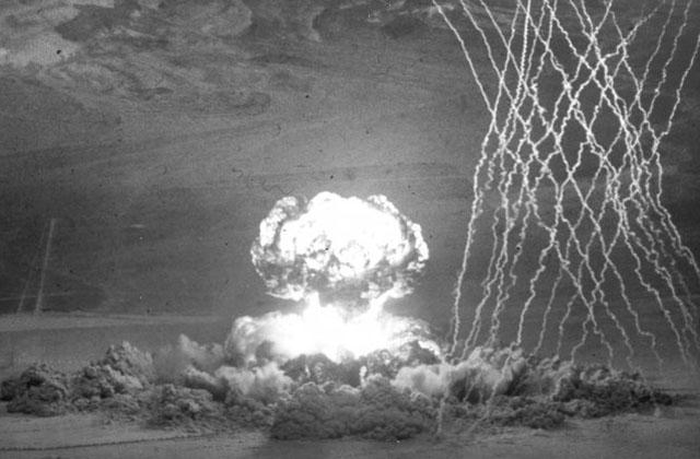 პირველი ატომური ბომბის გამოცდა სემიპალანტისკის პოლიგონზე. 1949 წლის 29 აგვისტო