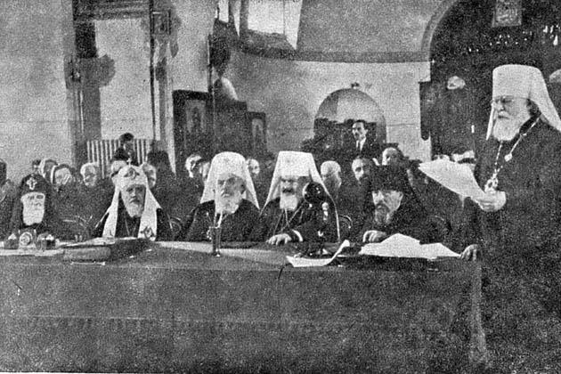 რუსეთის მართლმადიდებელი ეკლესიის იერარქიები სტალინთან შეხვედრის წინ