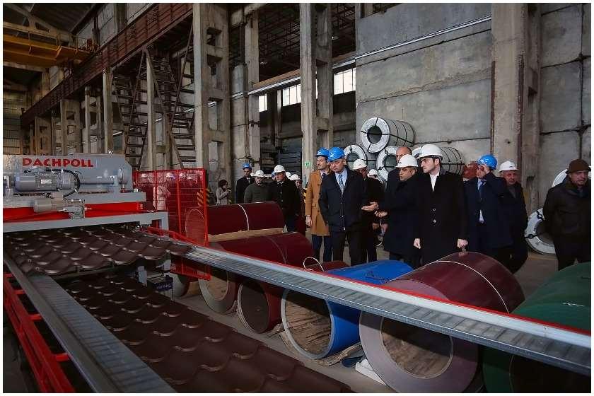 """სამშენებლო მასალების იმპორტიორი და მწარმოებელი კომპანია """"ნოვას"""" საწარმო თბილისში"""