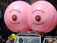 ასობით ქალმა შიშველი მკერდით ჩაიარა ნიუ-იორკში