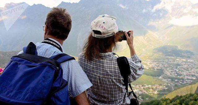 ტურისტები საქართველოში