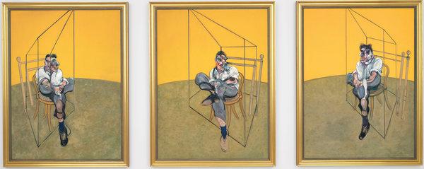 """ფრენსის ბეკონის """"სამი მონახაზი ლუსიენ ფროიდის პორტრეტისთვის"""", ტრიპტიქი _ 142,4 მლნ დოლარი"""