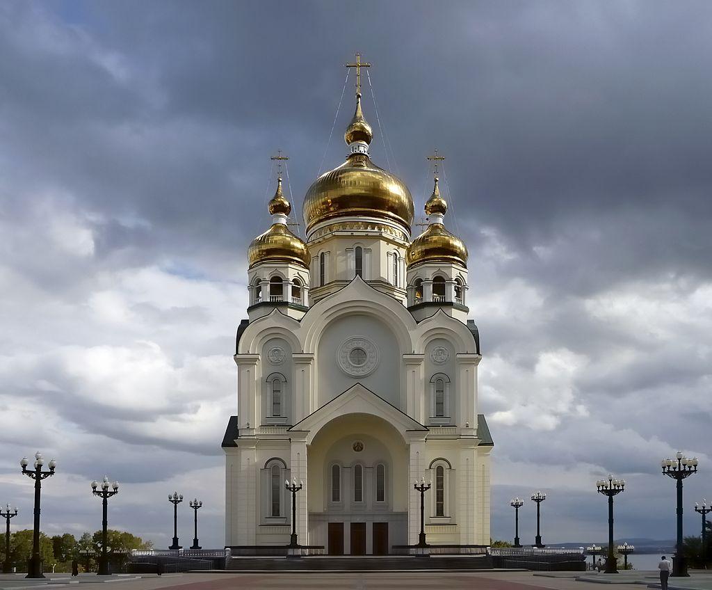 მაცხოვრის ფერისცვალების საკათედრო ტაძარი, ხაბაროვსკი (რუსეთი). სიმაღლე 96 მ