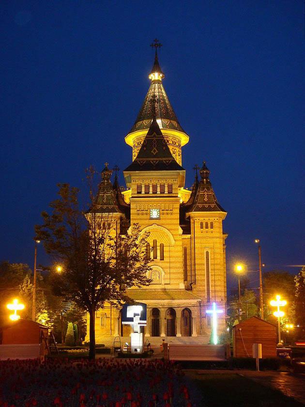 სამი წმინდანის ტაძარი, ტიმიშოარა, რუმინეთი. სიმაღლე 83,7 მ