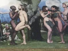 ეკლესიის საკურთხეველში ადამისა და ევას ნაცვლად გეები გამოსახეს