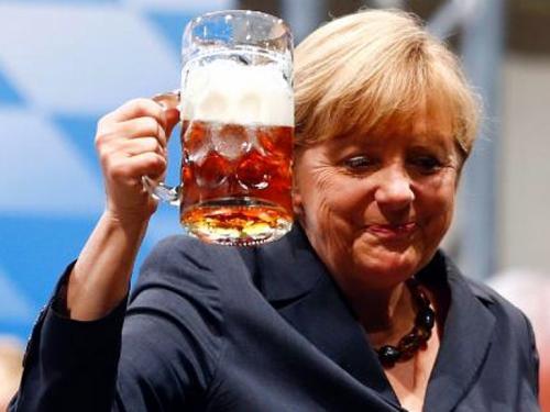 ანგელა მერკელი და 5 კათხა ლუდი