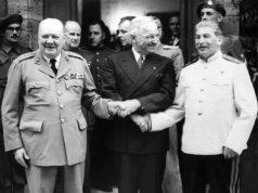 ჩერჩილი, ტრუმენი და სტალინი პოსტდამის კონფერენციაზე, 1945 წ.