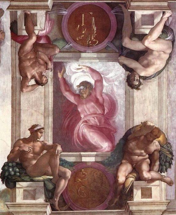 """მიქელანჯელოს """"ღმერთი აცალკევებს ნათელს უკუნისგან"""""""