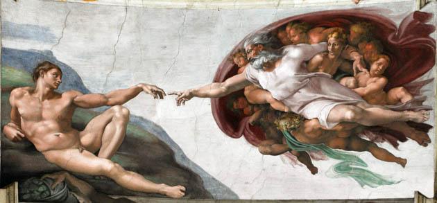 """მიქელანჯელოს """"ადამის შექმნა"""""""