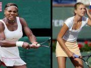 მარცხნივ სერენა უილიამსი, მარჯვნივ მარია შარაპოვა, რომელსაც სტეროიდების გამოყენების გამო 15 თვით აუკრძალეს ჩოგბურთის თამაში