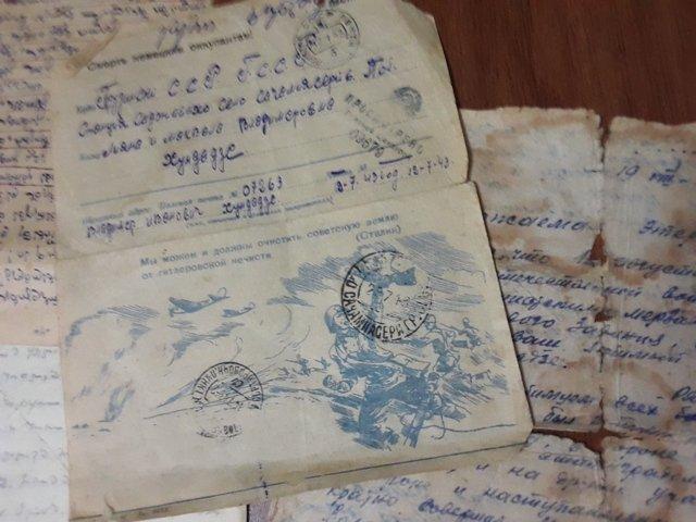 მამის მიერ ფრონტიდან გამოგზავნილი და სათუთად შენახული წერილები